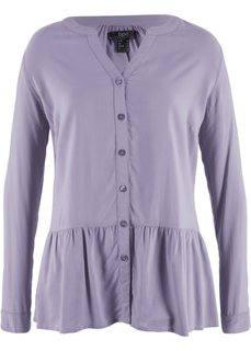 Блузка с баской (дымчато-фиолетовый) Bonprix