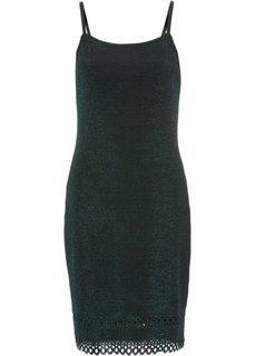 Платье с люрексом (темно-зеленый блестящий) Bonprix