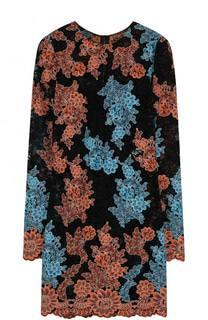 Кружевное мини-платье с длинным рукавом Dolce & Gabbana