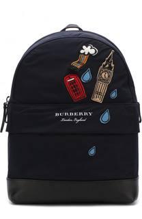 Текстильный рюкзак с аппликациями Burberry