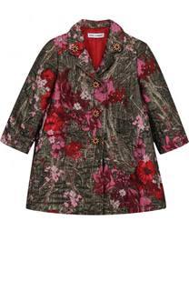 Пальто с металлизированной отделкой и вышивкой Dolce & Gabbana