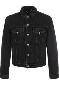Джинсовая куртка на пуговицах с потертостями Balenciaga