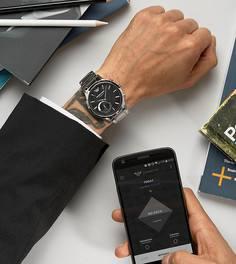 Смарт-часы с ремешком из нержавеющей стали Emporio Armani ART3000 Connected  - Серебряный 363438d04db