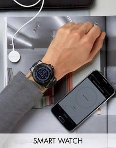Черные смарт-часы с силиконовым ремешком Michael Kors MKT5011 Dylan - Черный