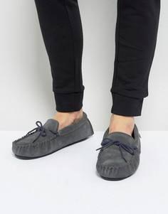 Серые замшевые мокасины-слиперы Dunlop - Серый