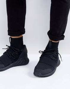 Мужские черные кроссовки adidas Originals Tubular Doom Primeknit DA9023 - Черный