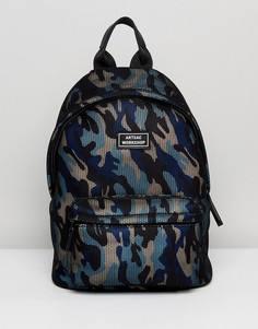 Рюкзак с камуфляжным принтом Artsac Workshop - Синий