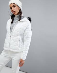Дутая горнолыжная куртка с искусственным мехом на капюшоне Dare2be Endow - Красный