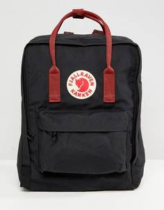 Рюкзак с контрастными ремешками Fjallraven Kanken - Черный