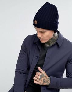 Темно-синяя шапка-бини Fjallraven Byron - Темно-синий