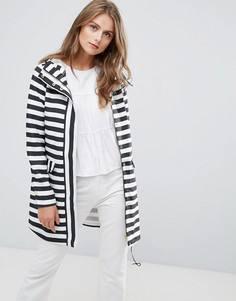 Дождевик в полоску Vero Moda - Белый
