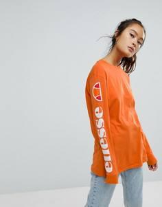 Лонгслив с принтом на рукавах Ellesse - Оранжевый