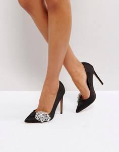 Туфли на высоком каблуке с отделкой ASOS PRINCESS - Черный
