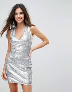 Платье с пайетками Parisian - Серебряный
