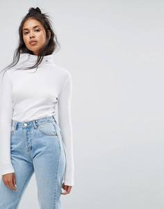 Топ с воротником поло Calvin Klein Jeans - Белый