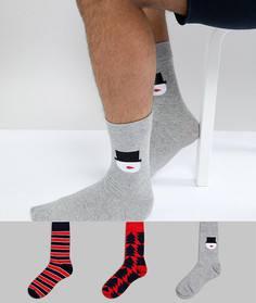 Набор новогодних носков (3 пары) Jack & Jones - Мульти