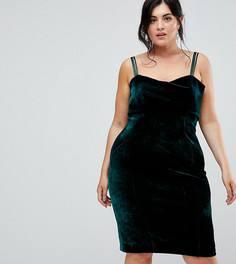 Зеленое бархатное платье Coast Plus Fenya - Черный