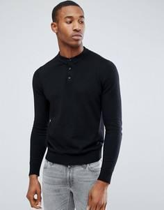 Вязаное поло Jack & Jones Premium - Черный