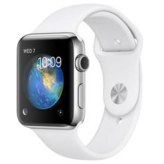 Умные часы APPLE Watch Series 2 42mm with White Sport Band MNPR2RU/A