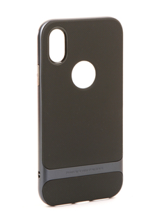 Аксессуар Чехол Rock Royce для iPhone 8 Black-Blue 08667