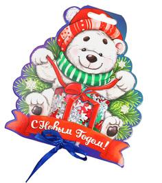 Новогодний сувенир Страна Карнавалия Конфетти С Новым годом! Мишка Mix 2226405