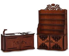 Игра ЯиГрушка Кухня для кукольного домика Brown 59414
