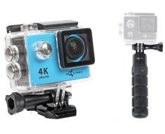 Экшн-камера Airon ProCam 4k Blue + пульт+поплавок
