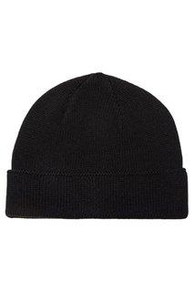 Черная кашемировая шапка Canali
