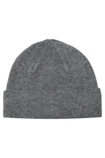 Серая меланжевая шапка из кашемира Canali