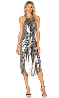 Металлизированное платье с запахом lehunt - Privacy Please