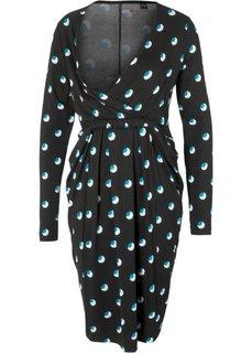 Платье для будущих и кормящих мам (черный с рисунком) Bonprix