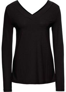 Футболка, базовый гардероб (черный) Bonprix