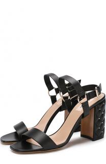 Кожаные босоножки Free Rockstud Spike на устойчивом каблуке Valentino