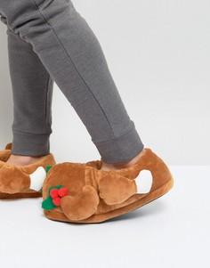 Слиперы в новогоднем стиле Dunlop Christmas Turkey - Коричневый