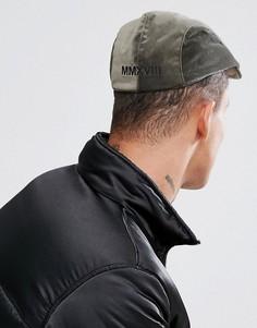 Велюровая кепка цвета хаки с вышивкой ASOS - Зеленый