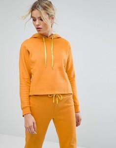 Худи горчичного цвета укороченного кроя South Beach - Желтый