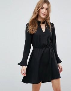 Платье с рукавами-клеш Only Johnanna - Черный