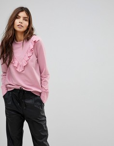 Джемпер с оборкой на груди Vero Moda - Розовый
