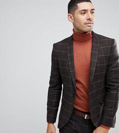 Пиджак в решетчатую клетку Heart & Dagger - Коричневый