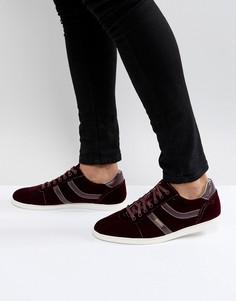 Бордовые бархатные кроссовки BOSS Casual Rumba - Красный