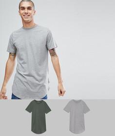 2 удлиненные футболки Jack & Jones Originals - СО СКИДКОЙ - Мульти