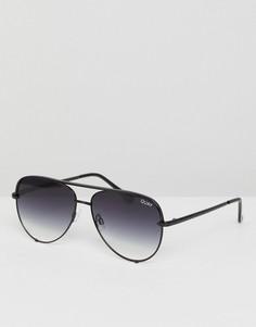 Солнцезащитные очки-авиаторы с затемненными стеклами Quay Australia X Desi - Черный