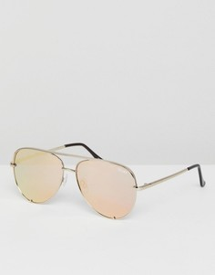 Солнцезащитные очки-авиаторы с зеркальными стеклами Quay Australia X Desi - Золотой