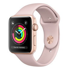 Умные часы APPLE Watch Series 3 42mm Gold with Pink Sand Sport Band MQL22RU/A