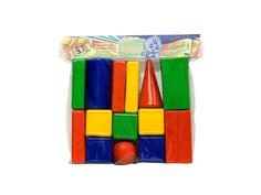 Конструктор Омская фабрика игрушек Городок Кубики средний 14 дет. 0080
