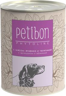 Корм Petibon Phytoline Янёнок Телятина 340g для собак