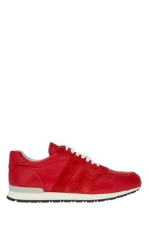 Красные кожаные кроссовки Canali
