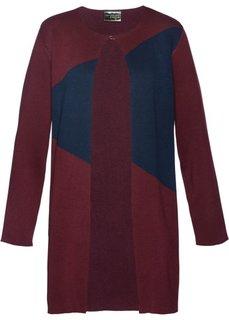 Пальто вязаное (кленово-красный/темно-синий/розовый матовый) Bonprix