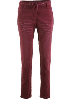 Вельветовые брюки (кленово-красный) Bonprix