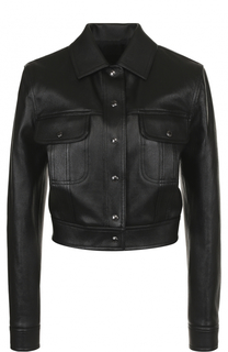 Укороченная кожаная куртка с отложным воротником Tom Ford